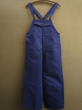 1940's blue cotton salopette dead stock