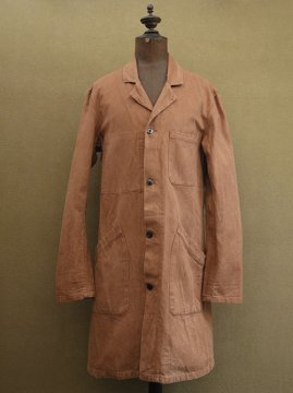 cir. mid 20th c. brown cotton work coat