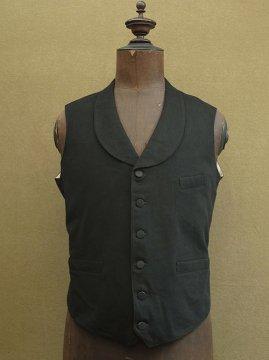 cir. early 20th c. black wool gilet