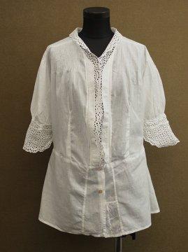 cir.1920's-1930's white blouse S/SL