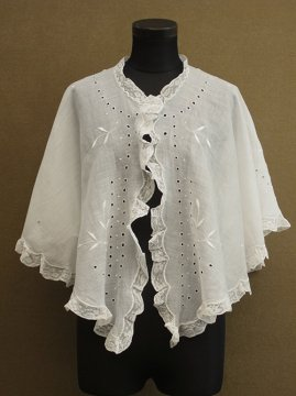cir. early 20th c. white shawl
