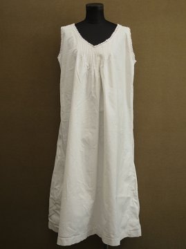 early 20th c. white cotton long dress N/SL