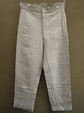 late 19th - early 20th c. military herringbone linen work trousers