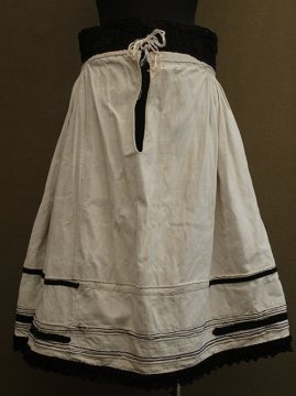 early 20th c. eastern Europe embroidered skirt
