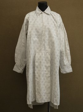 early 20th c. printed cotton shirt