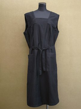 1930-1940's black N/SL work dress dead stock