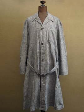 cir. 1930-1940's linen chambray atelier coat