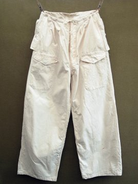 cir. 1940-1950's french military snow camo overpants