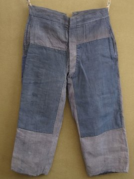 cir.1930's patched linen work trousers