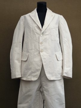 cir.1930's white cotton set-up