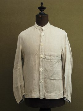 cir. 1930's herringbone linen work jacket