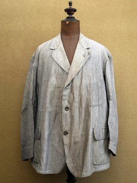 cir.1930's striped salt&pepper work jacket
