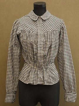 early 20th c. black × white checked bodice