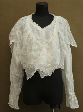 early 20th c. white embroidered blouse