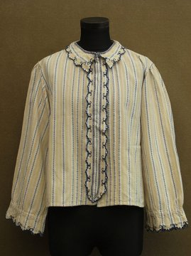 early 20th c. yellow striped blouse