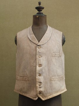 cir. 1930's brown salt & pepper gilet