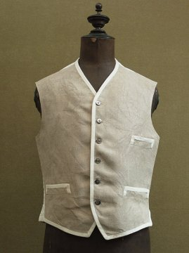 cir. 1930's linen gilet