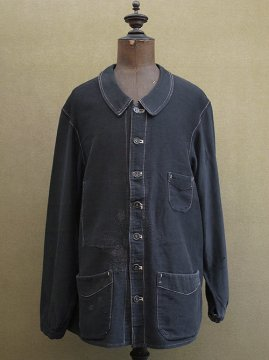 ~1920's black moleskin work jacket