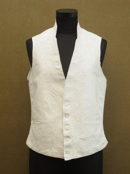 19th c. hand embroidered gilet