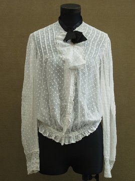 early 20th c. white dots blouse
