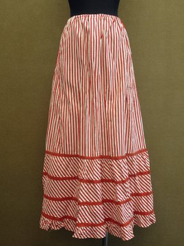 early 20th c. red striped skirt