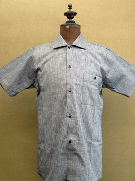 cir. mid 20th c. chambray S/SL shirt dead stock