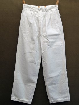 cir.1940's white cotton trousers
