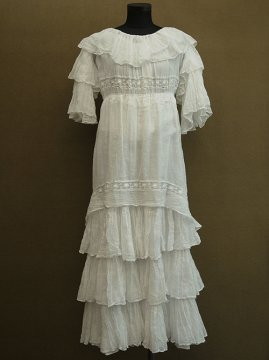 early 20th c. white frill dress