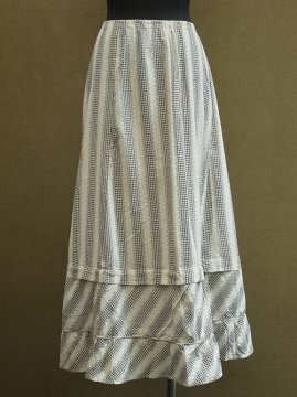 cir.1920-1930's printed cotton skirt