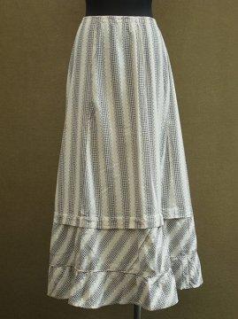 cir.1920-1930's printed cotton skirt
