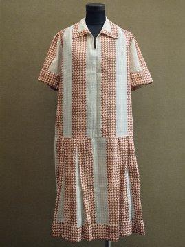 1920-1930's houndstooth check dress S/SL