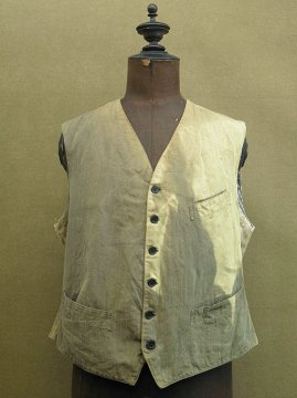 1930-1940's striped work gilet