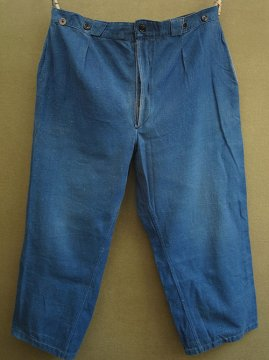cir.1930-1940's indigo twill work trousers