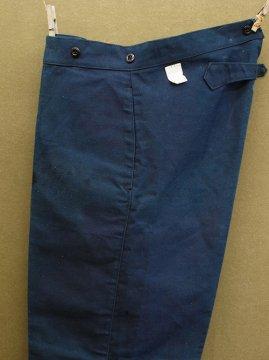 cir.1930-1940's indigo twill work trousers dead stock