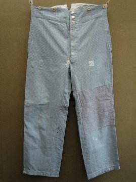 cir.early 20th c. indigo houndstooth work trousers
