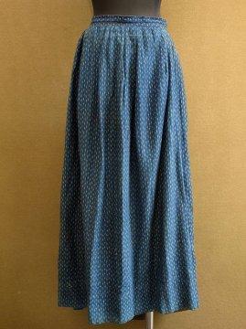 early 20th c. printed indigo cotton skirt