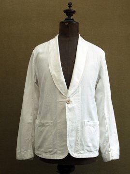 cir.1930-1940's shawl collar white jacket