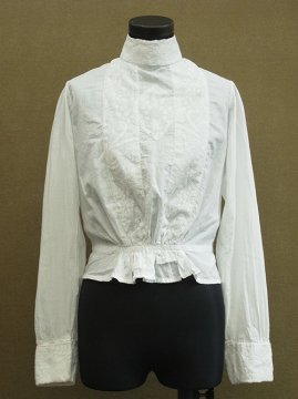 1900's white embroidered blouse
