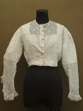late 19th c. dots embroidered blouse