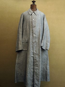 cir. 1920's linen chambray coat