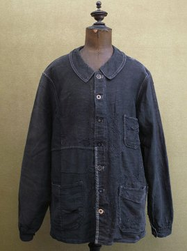 1930's black moleskin work jacket