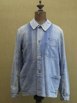 cir.1930's blue linen cotton twill work jacket