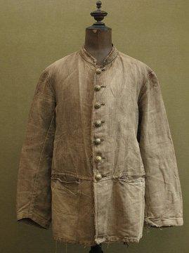 19th c. brown linen fireman jacket
