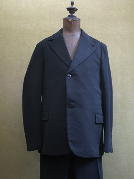 cir.1930's black wool 3 piece