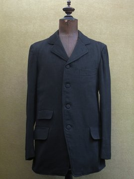 cir.1920's black wool sack coat