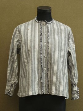 early 20th c. striped cotton blouse