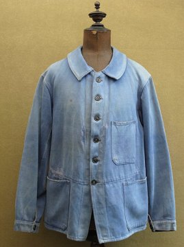 1930's blue moleskin jacket