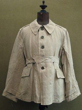 1930-1940's beige linen jacket military
