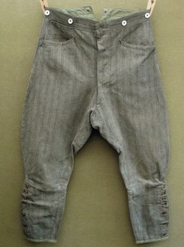1930's gray striped cotton jodhpurs