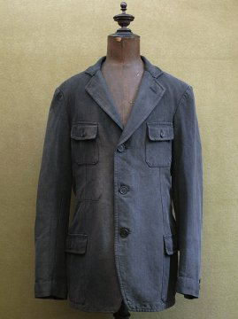 1930-1940's black cotton herringbone jacket